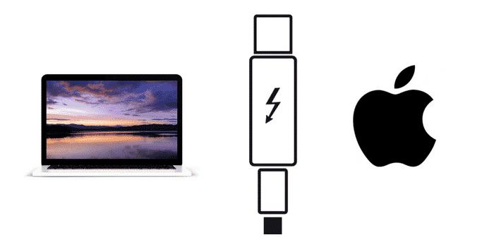 Apple Thunderbolt 3 Anschluss Stecker